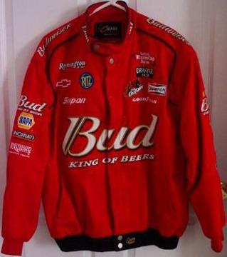 $50 Dale Earnhardt Jr Budweiser Jacket Chase Authentics Large