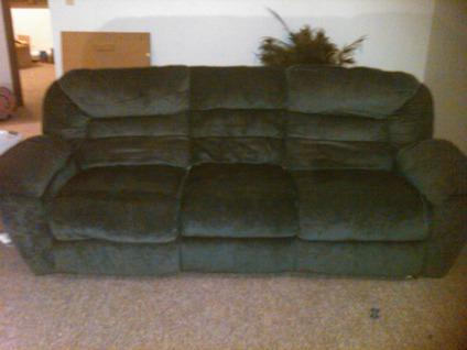 ashley furniture green microfiber couch recliner Classifieds ...