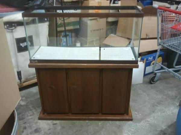 50 gallon fish tank w wooden stand for sale in arnold for 125 gallon fish tank stand