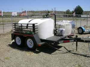 500 gal water tank on trailer - $3950 (Mayer)