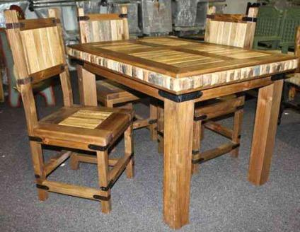 rare cactus inlaid dining table and chair set colorado springs for sale in pueblo. Black Bedroom Furniture Sets. Home Design Ideas