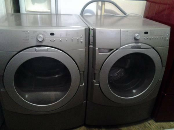 52 kitchenaid graphite steel front load washer elec for High end appliances for sale