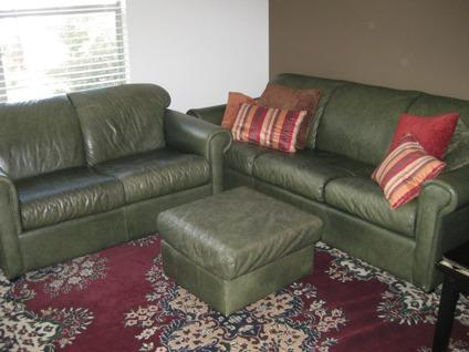 $525 OBO Leather Sofa, Love Seat And Ottoman (+/