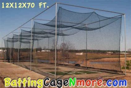 Baseball Batting Cage Netting High School College Net 30 12x12x40
