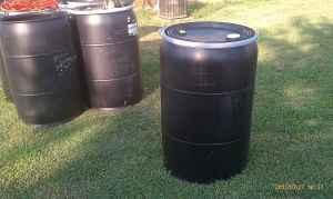 55 gallon barrels, storage, container, - $20