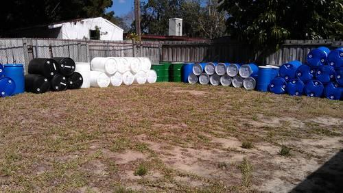 55 Gallon Food Grade Plastic and Steel Barrels