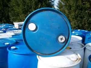 55 gallon plastic barrels - $7 (Anderson SC)