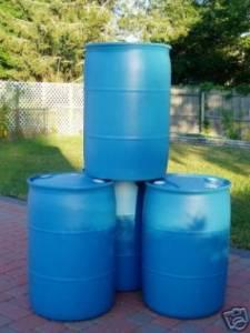55 GALLON PLASTIC DRUMS / RAIN BARRELS - $20