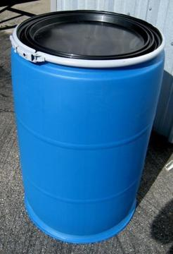 55 Gallon Plastic Drums With Removeable Lids For Sale In