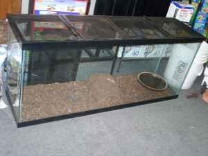 55 Gallon Reptile Fish Tank Folding Screen Top On Both