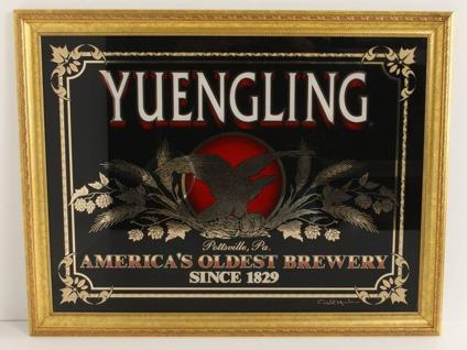 Yuengling Beer Eagle Sign On Glass For Sale In Port Saint