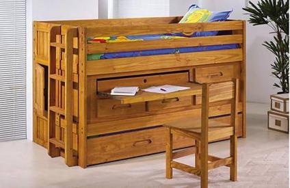 Discovery Jr Loft Bed Twin Trundle Desk Storage And