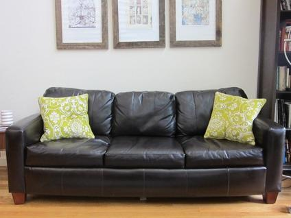 OBO Queen Leather Sleeper Sofa Couch Chairs Ottoman Living Room Set for Sale in Brooklyn New