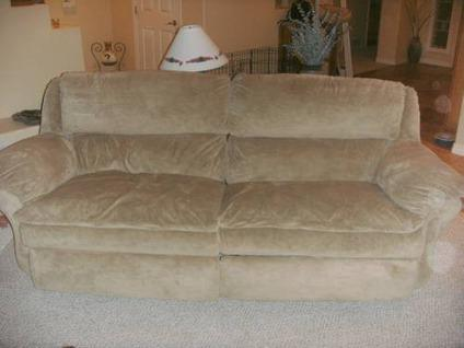 oversized recliners for sale. $550 Tan Microfiber Set, Double Recliner Couch, Chaise, Oversized Recliners For Sale S