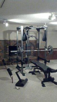 Weider Club C 670 Home Weight Gym W Weight Plates For