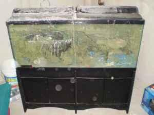 55g fish tank and stand nice filter heater system west for Koi pond heaters for sale
