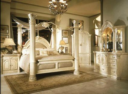 Obo Luxurious Bedroom Set Michael Amini Aico Monte Carlo Classic Style For Sale In San