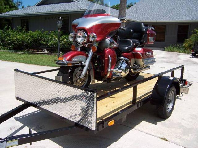 5x10 open motorcycle utility trailer new 2013 model for sale in stuart florida classified. Black Bedroom Furniture Sets. Home Design Ideas