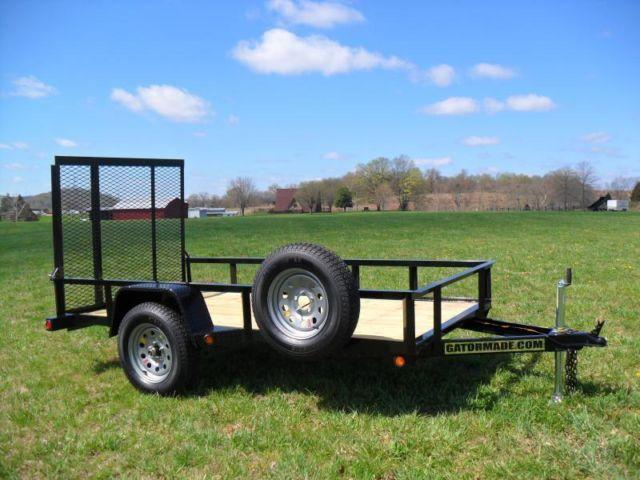 5x10 Utility Trailer 3500lbs Gatormade For Sale In