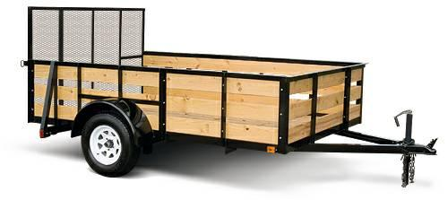 5x10 utility trailers with wood sides and ramp gate for for 5x10 wood floor trailer