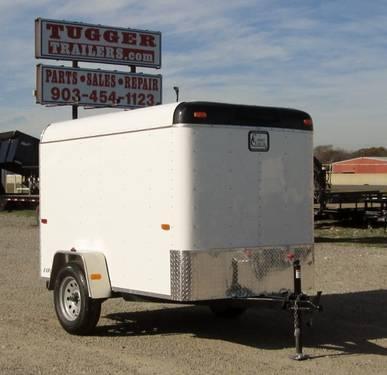 5x8 Cargo Craft White Explorer Enclosed Trailer W Ramp For