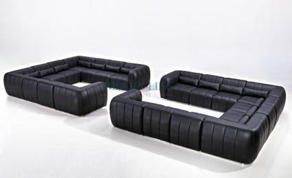Fabulous Obo 20 Piece Leather Black Modern Sectional Couches Sofa For Forskolin Free Trial Chair Design Images Forskolin Free Trialorg