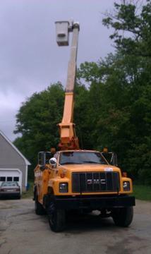 obo 1997 gmc c7500 45 ft bucket truck for sale in upton