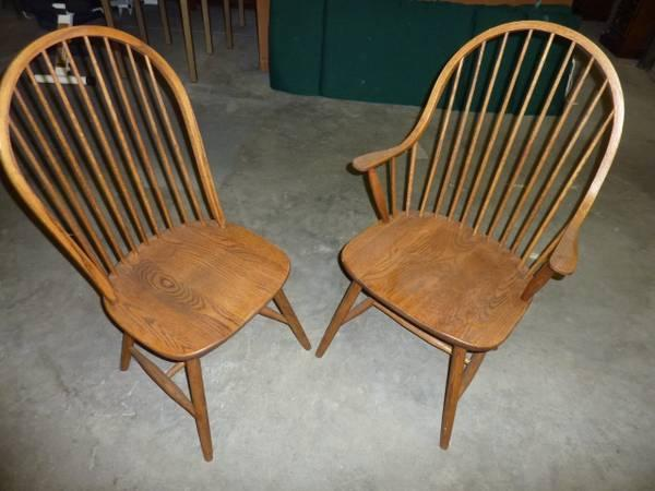 6 Borkholder Amish Windsor Dining Chairs   $750