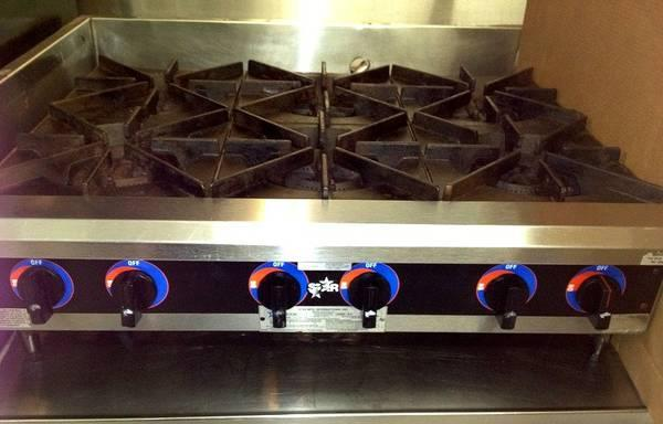 6-BURNER GAS STOVE - $350