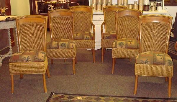 6 Dining Chairs Rattan Dining Chair For Sale In Pensacola Florida Classifi