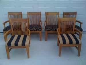 oak dining room chairs w arms valdosta ga for sale in valdosta