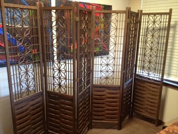 6 Panel Room Divider Wood for Sale in Redwood City California