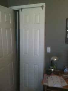 6 Panel White Sliding Closet Doors Lawrence For Sale