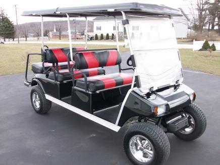 6 Passenger Custom Lifted Golf Cart Very Sharp With