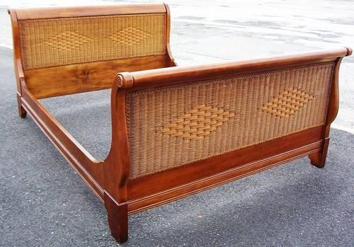 6 pc lexington tommy bahama wicker wood bedroom set for - Used lexington bedroom furniture ...