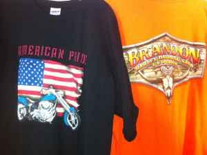 6 T-Shirts Harley, Boot Hill, etc - $25 (N Stafford)