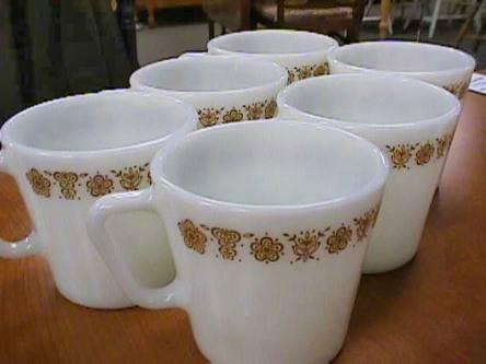 6 Vintage Pyrex Coffee Cups Mugs For Sale In Chautauqua