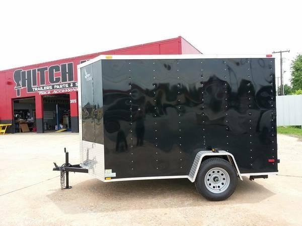 6 x 10 V-nose Enclosed Lark Cargo Box Trailer