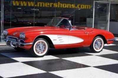 60 Corvette Roadster Ermine White Free USA Shipping