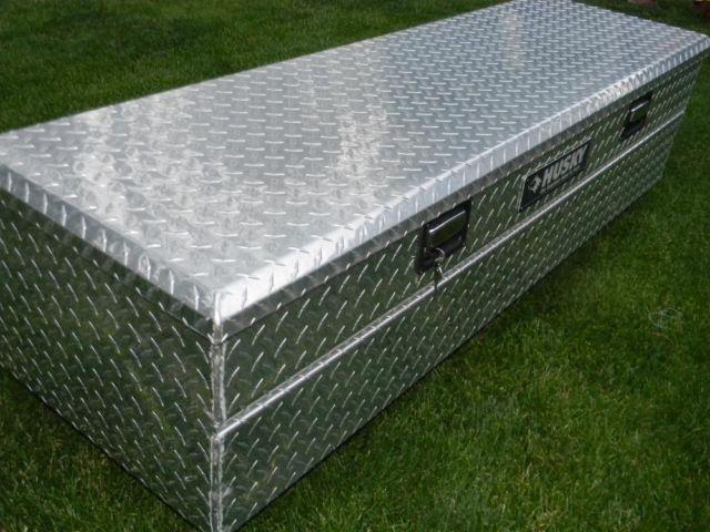 60 Diamond Plate Husky Aluminum Deep Truck Bed Chest For Sale In