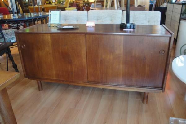 Teak Danish Credenza : 60s teak danish import sliding door credenza for sale in