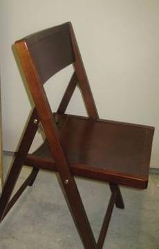 Marvelous $60 Set Of 4 Walnut Wood Folding Chairs!