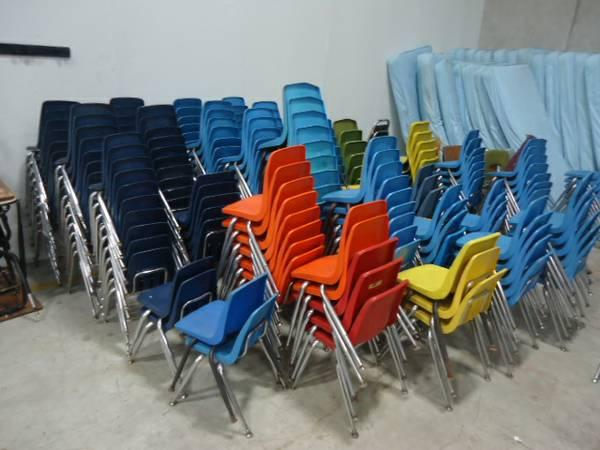All Stack Chairs Over 200 Pcs Of Chairs Good And Bad Mix Lot For