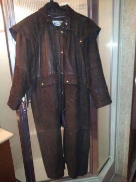 $600 Mens Full Length Leather Duster