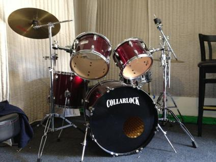 obo complete collarlock dw 5pc drum set with cymbals and evans heads for sale in los angeles. Black Bedroom Furniture Sets. Home Design Ideas
