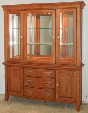 Obo Solid Oak China Cabinet For Sale In Warner Robins