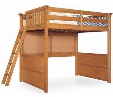Full Size Solid Wood Loft Bunk Bed Great For Studio Apts