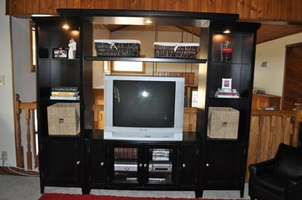 $650 5 Piece Carlyle Entertainment Center (Black) From