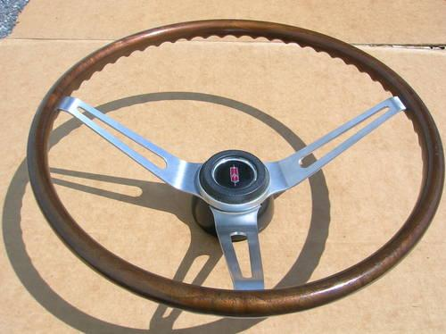 67 68 OLDS 442 HURST/OLDS CUTLASS F85 RARE GM WOOD STEERING WHEEL