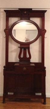 Antique Mahogany Umbrella Stand Or Hall Tree For Sale In